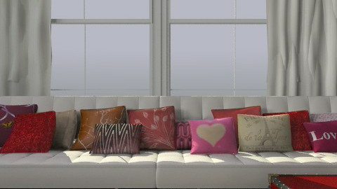 Hue = Red, saturation, value - Eclectic - Living room  - by toadfool