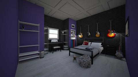 Jalens dream bedroom - Retro - Bedroom  - by jade1111
