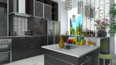 B and W 3 - Modern - Kitchen  - by Bibiche