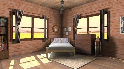 Patchwork Sleeping - Country - Bedroom  - by HGranger2