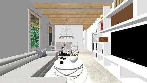 z balkonem - Living room - by DERRYS