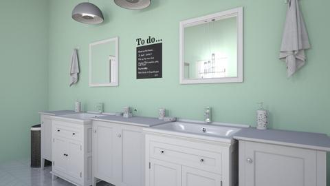 Minty Bathroom  - Feminine - Bathroom - by cinderellagirl7