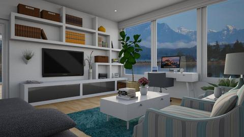 Coastal Living_Home Office - Eclectic - Living room  - by Theadora