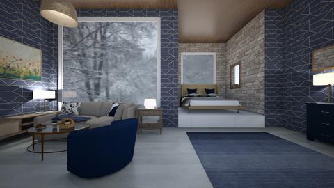 Navy Blue Living  - Modern - by Xxshadowdekuxxx