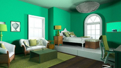 Green Room - Feminine - Bedroom - by 89dudes