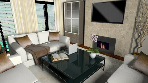 Cream_brown_combination - Glamour - Living room  - by anjuska9