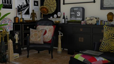 black travels - Living room  - by Karen Priest