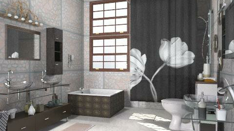 C - Modern - Bathroom  - by milyca8