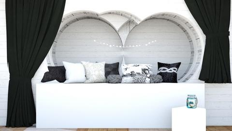 Black and white corner - Modern - Bedroom  - by Agamanta