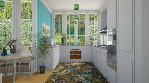 floral kitchen - Kitchen  - by aerifia