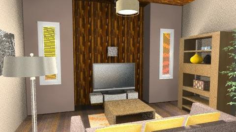 The wood Living Room 4 - Vintage - Living room  - by vianeyrulez