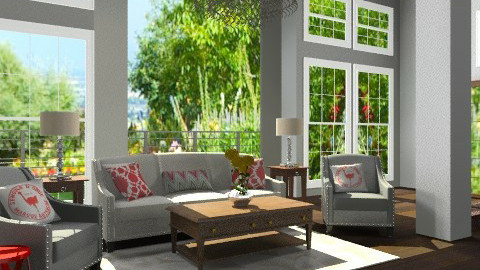 Upscale Country - Eclectic - Living room  - by Baustin