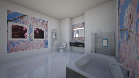 CHERRY BLOSSOM BATHROOM - Bathroom  - by home_designer10