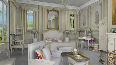 La Retraite de Madeleine - Classic - Bedroom  - by Bibiche