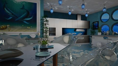Ocean inspired kitchen - by ilcsi1860