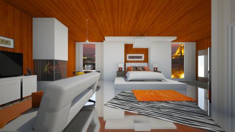 Orange bedroom - by lokislc