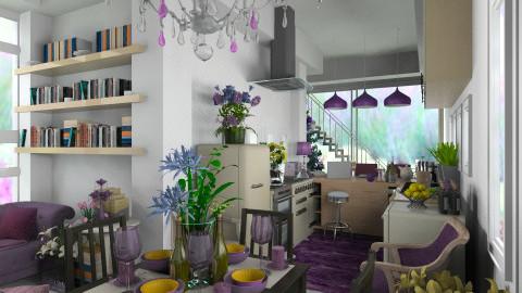 Purple Kitchen_CWIN - Modern - Kitchen  - by TV Renders