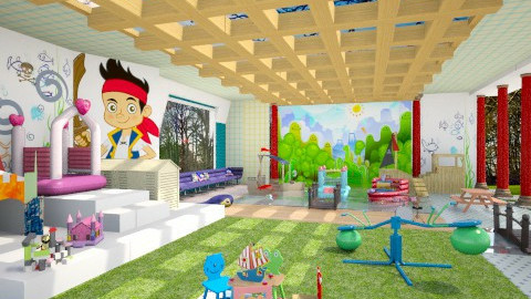 Pirate Play Center - Kids room  - by Pilita Jabers