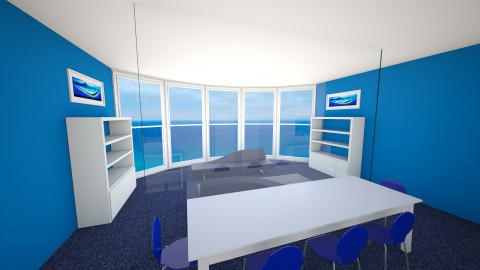 Blue Family Room - Modern - Living room  - by P_C