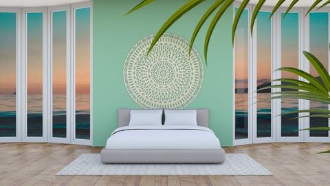Bay Windows Bedroom - Minimal - Bedroom  - by ZolaKate