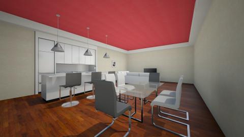 pink - Dining room - by popov_hristijan