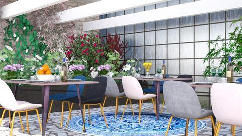 Summer Cafe - Retro - Dining room  - by millerfam