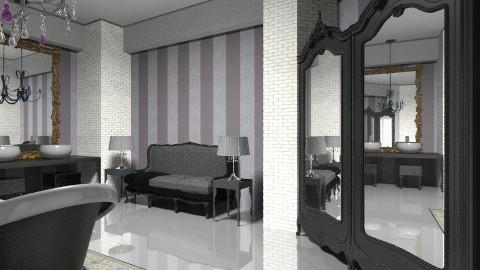 black chandelier view 05 - Bathroom - by decoart