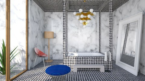 Marble Glam Bath - Glamour - Bathroom  - by 3rdfloor