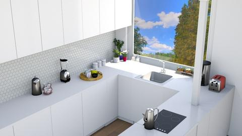 white kitchen - Kitchen  - by Tina we will ronovate