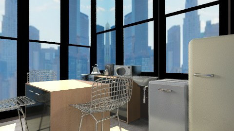 Apartment kitchen - Eclectic - Kitchen  - by RayRachelle