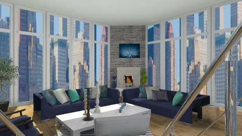 Man in a Hole 1 - Eclectic - Living room  - by Patti58