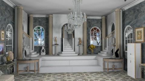 Museum Hall - Classic - Hallway  - by Bibiche