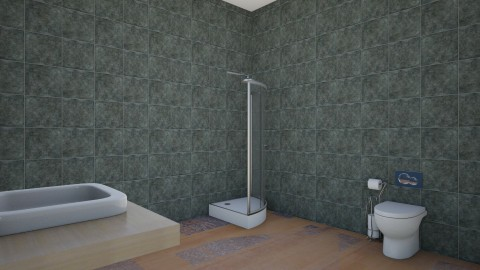 appartment 1 - Bathroom  - by the desingner