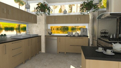 U Kitchen - Modern - Kitchen  - by Bibiche