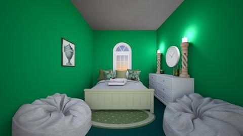 Green Container home - Retro - Bedroom  - by Little_Laya