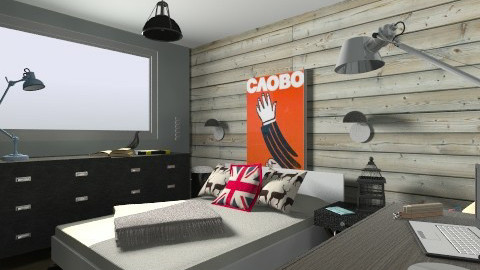 Sebs Room - Retro - Bedroom - by chocotat