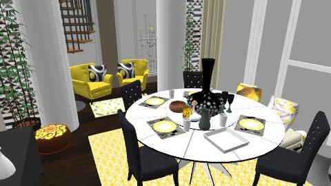 Contemporary Apt. - Glamour - Dining room - by aveneym