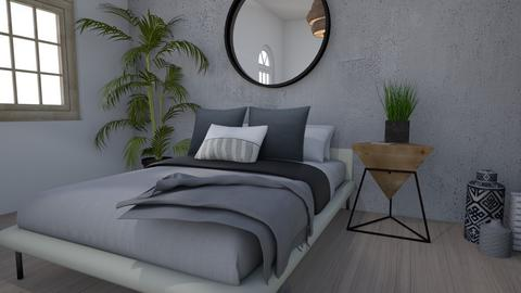Minimalist Concrete  - Bedroom - by 21harpm