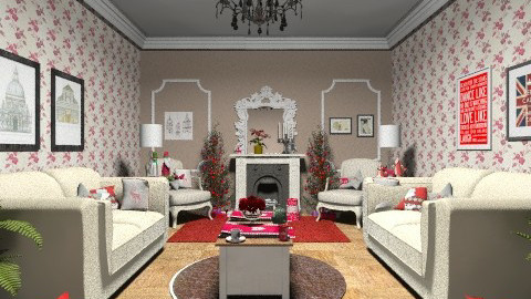 country christmas - Rustic - Living room  - by Kiriaki Gakidou