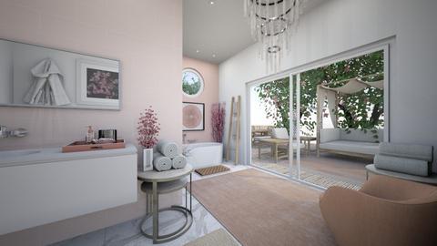 Cherry Blossom Bathroom - Bathroom  - by Lambogirl