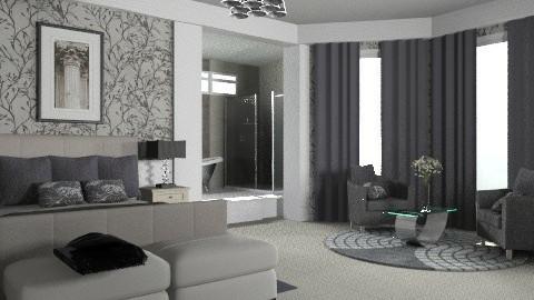 Bluegrey bed... - Modern - Bedroom - by KittiFarkas