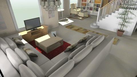 My Dream Home 1 Floor - Minimal - Living room  - by lbarriosch