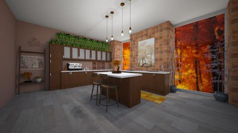 Autumn Kitchen - Kitchen  - by Destiny H
