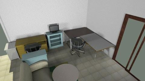 Craft room option 1 - Vintage - Office  - by heidid