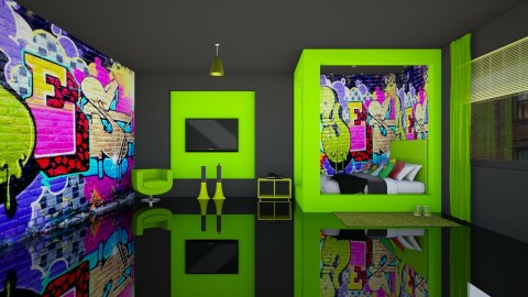 Graffiti Boys Room - Kids room  - by creato