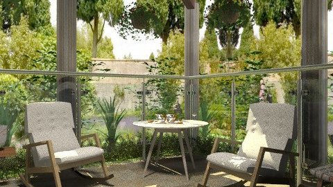 Afternoon relax on the terrace - Modern - Garden  - by milyca8