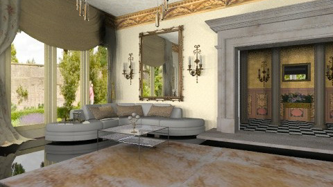 modern ornate mix - Eclectic - Living room  - by auntiehelen