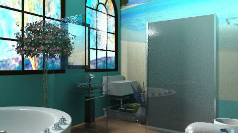 color tiffany. ♥ - Modern - Bathroom  - by Phoebe Ficer
