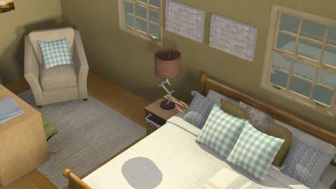 rustic bedroom - Rustic - Bedroom  - by lkick