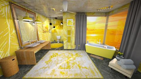 Yellow Palm Beach Bath - Glamour - Bathroom  - by rlav2